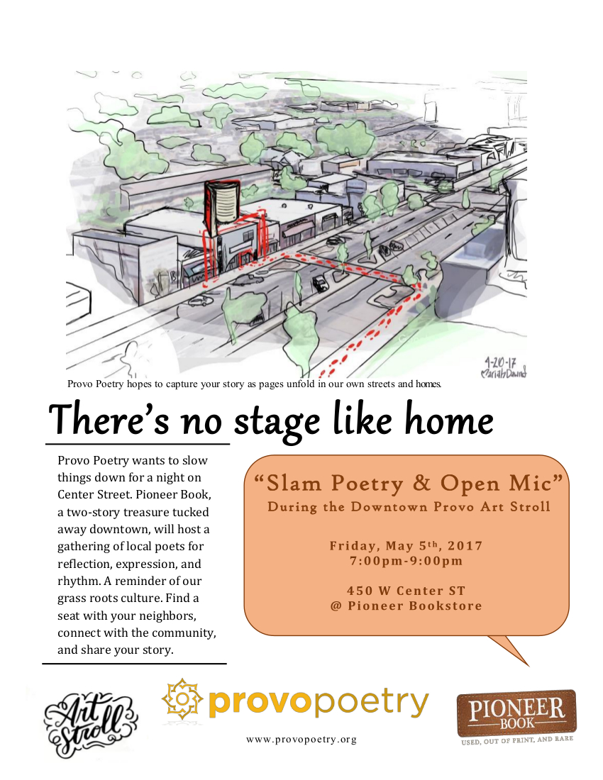 Poetry Night at the Provo Art Stroll – Friday, May 5, 7